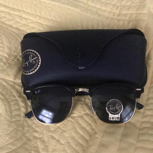 6c5e2b888d2bd2 Black Clubmaster Ray Bans G-15 Lens